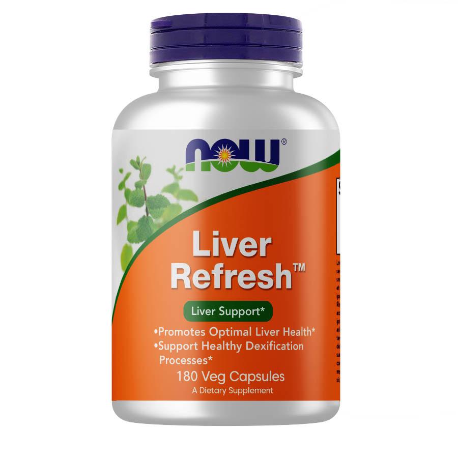 Натуральная добавка NOW Liver Refresh, 180 вегакапсул