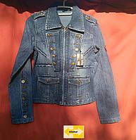 Подросток девочка джинсовая куртка