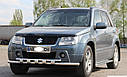 Защита переднего бампера (ус двойной SHARK) Suzuki Grand Vitara 2005-2012, фото 2
