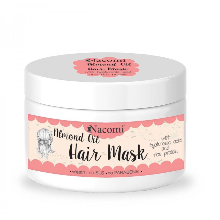 Купить Маска для волос с маслом миндаля с гиалуроновой сывороткой и протеинами риса Nacomi Almond Oil Hair Mask 200 мл (5902539700640)