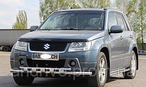 Защита переднего бампера (двойной ус SHARK) Suzuki Grand Vitara 2012-2015