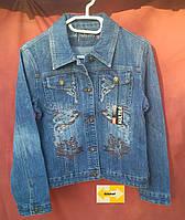 Подростковая джинсовая куртка пиджак