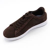Кроссовки женские демисезонные замшевые, темно-коричневые, Размер 35,5 (стоковая обувь) Распродажа.