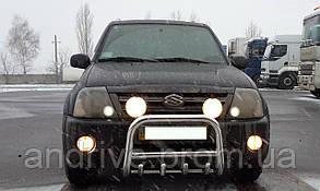 Кенгурятник с грилем (защита переднего бампера) Suzuki Grand Vitara XL-7 2001-2006
