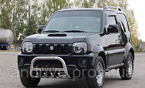 Кенгурятник с лого (защита переднего бампера) Suzuki Jimny 1998-2018