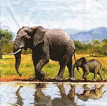 Салфетка декупажная Слоны 8310
