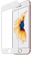 Загартоване захисне скло на Iphone 8 Повне покриття Біле