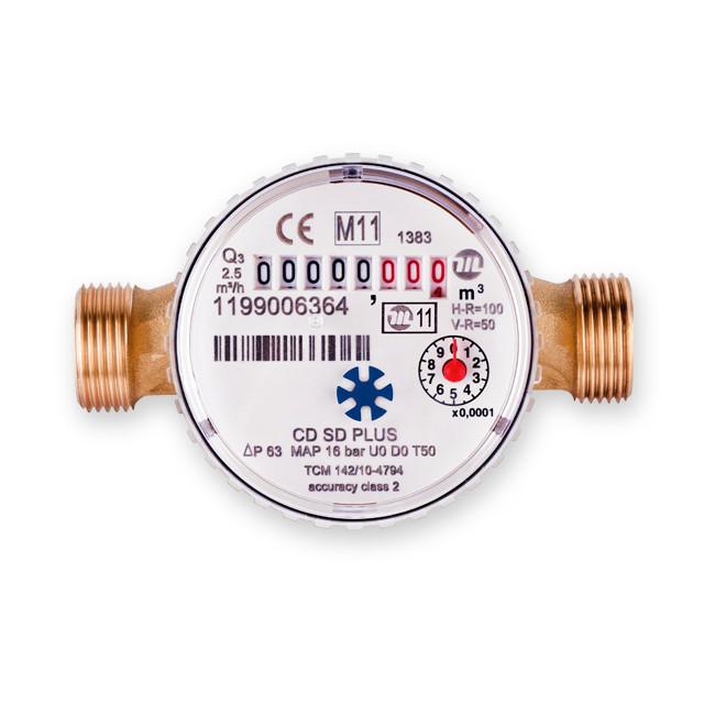 Лічильник води Maddalena DN 20 CD SD PLUS одноструменевий сухоход (антимагнит) для холодної води