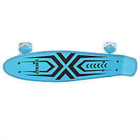 Скейт детский, скейтборд от 6 лет для трюков и катания (Светло-Синий)  MS 0749-1
