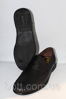 Туфли мужские мокасины кожаные черные, фото 2