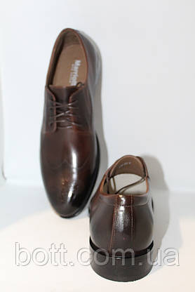 Кожаные коричневые туфли, фото 3