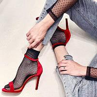 Женские носки в сеточку.  Жіночі шкарпетки в сіточку.