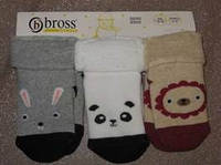 Детские махровые носочки с отворотным манжетиком Bross (за 1 пару)