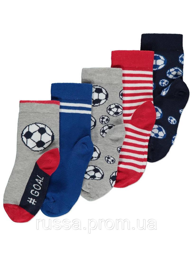 Набор детских носочков 5 пар Футбол Джордж для мальчика