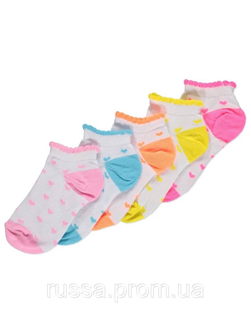 Набор детских заниженных носочков 5 пар Джордж для девочки