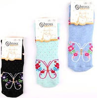Детские махровые носочки Бабочка Bross (за 1 пару)