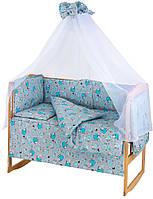 Детская постель Qvatro Gold RG-08 рисунок  серая (голубые барашки)