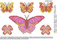"""Схема для вышивки бисером на водорастворимом флизелине """"Бабочки"""""""