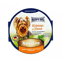 Корм консервированный для собак с уткой и курицей Happy Dog Schale NaturLine НuhnEnte Хэппи Дог