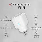 Умная розетка Wi-Fi управление 16А Wi-smart Plug розетка с таймером с голосовым управлением Умный дом, фото 3