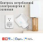 Умная розетка Wi-Fi управление 16А Wi-smart Plug розетка с таймером с голосовым управлением Умный дом, фото 4