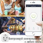 Умная розетка Wi-Fi управление 16А Wi-smart Plug розетка с таймером с голосовым управлением Умный дом, фото 2