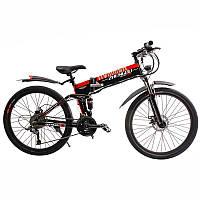 Электровелосипед Zhengbu H1 Черный с красным (297874)