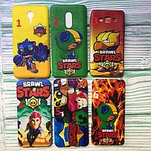 Чехол силиконовый Brawl Stars для всех моделей Nokia