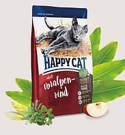 Корм сухой для взрослых котов Хеппи Кет с альпийской говядиной Happy Cat Supreme Adult Voralpen Rind 10кг