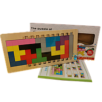 Деревянная развивающая настольная игра Катамино + книжка с заданиями