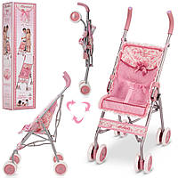 Складная коляска-трость для куклы прогулочная DeCuevas 90126 высота 75 см