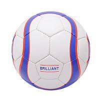 М`яч футбольний лакований BRILLIANT (4-ох шарове покриття, латексна камера)