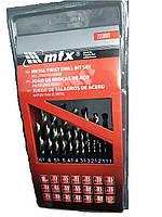 Набор сверл по металлу, 1-10 мм (через 0,5 мм), HSS, 19 шт., метал. коробка цил. хвостовик MTX (723889)