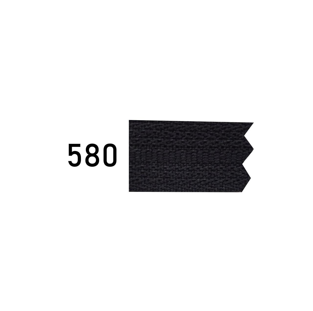 Молния спиральная №5 рулонная S-580 черный (рул 200м) ZIP