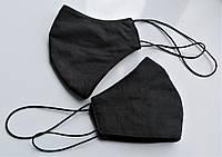 Женская многоразовая хлопковая маска 2 шт черная респиратор повязка