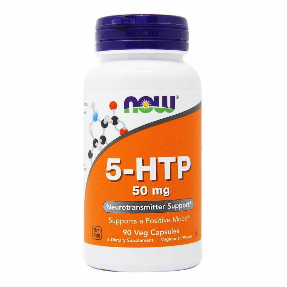Аминокислота NOW Foods 5-HTP 50 mg 90 капсул