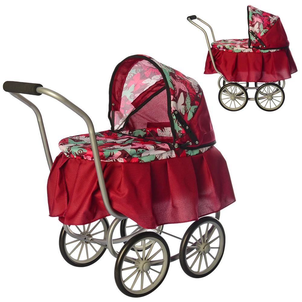 Коляска для куклы классическая железная Melogo 9678 красная