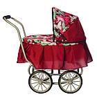 Коляска для куклы классическая железная Melogo 9678 красная, фото 3
