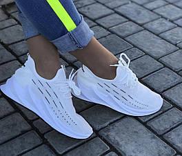 Женские кроссовки в сеточку (белые)