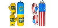 """Детский тренажер боксерский набор """"Украина, Америка"""""""