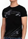 Черная футболка с рисунком Benger, фото 3