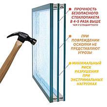 Ударопрочный стеклопакет триплекс