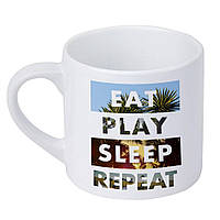 Кружка маленькая Eat Play Sleep Repeat 170 мл (KRD_20M079)