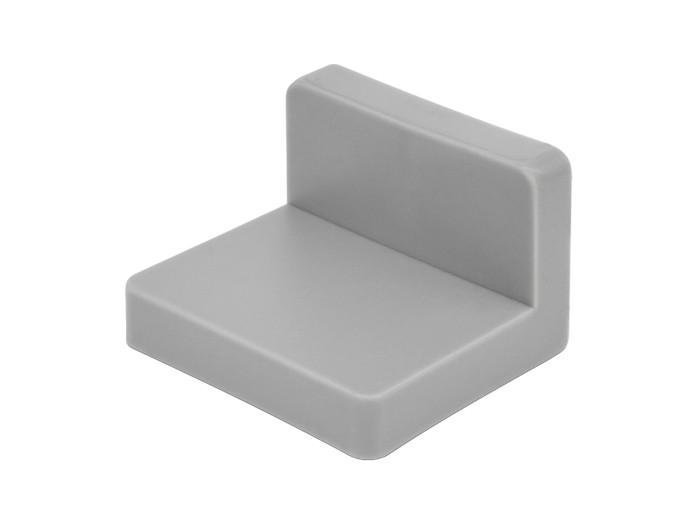 Кутник меблевий монтажний металевий з пластиковою заглушкою GIFF сірий