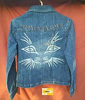 Женская джинсовая куртка - пиджак, фото 1