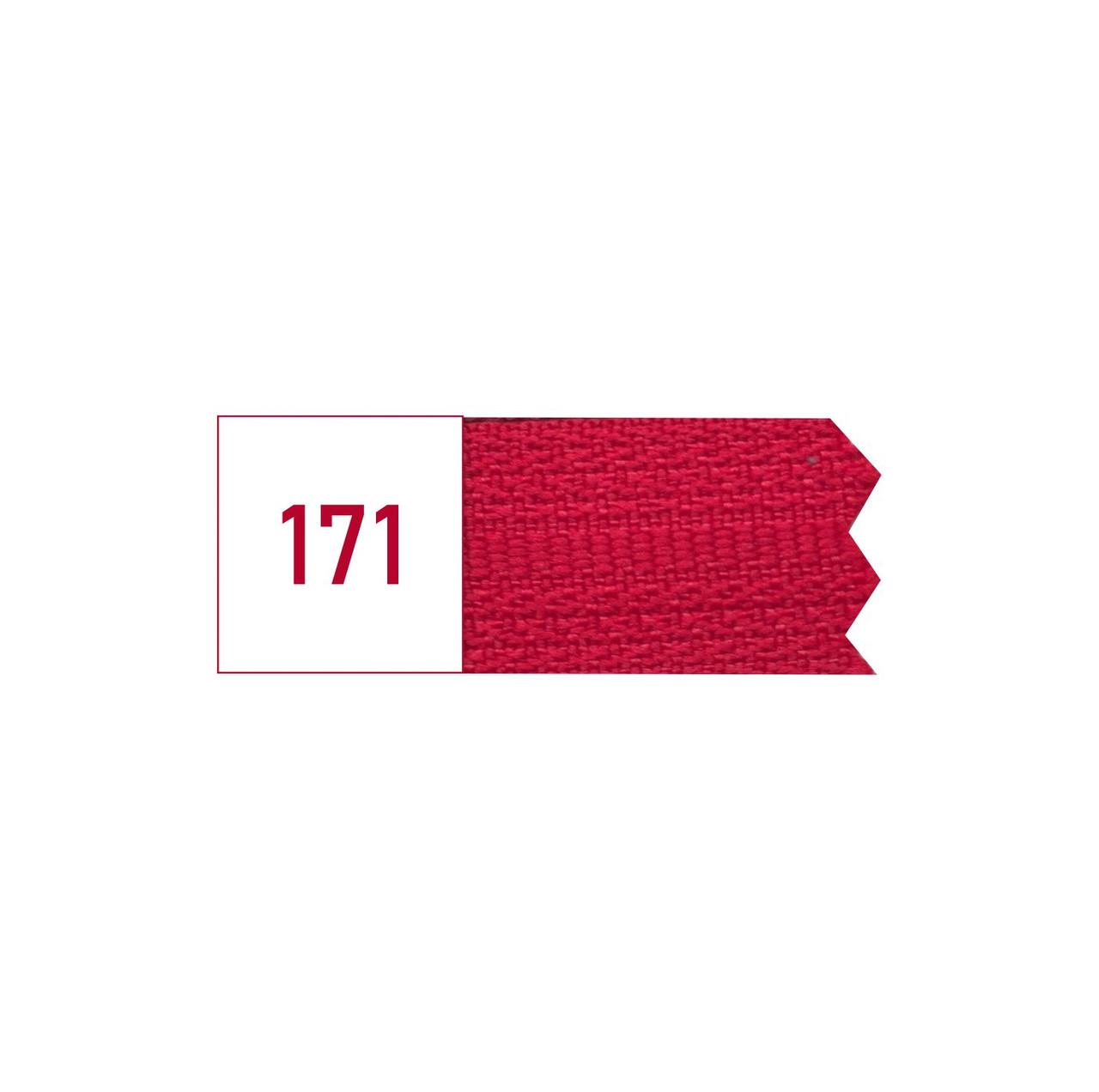 Молния спиральная №3 рулонная S-171 красный  (рул 200м) ZIP