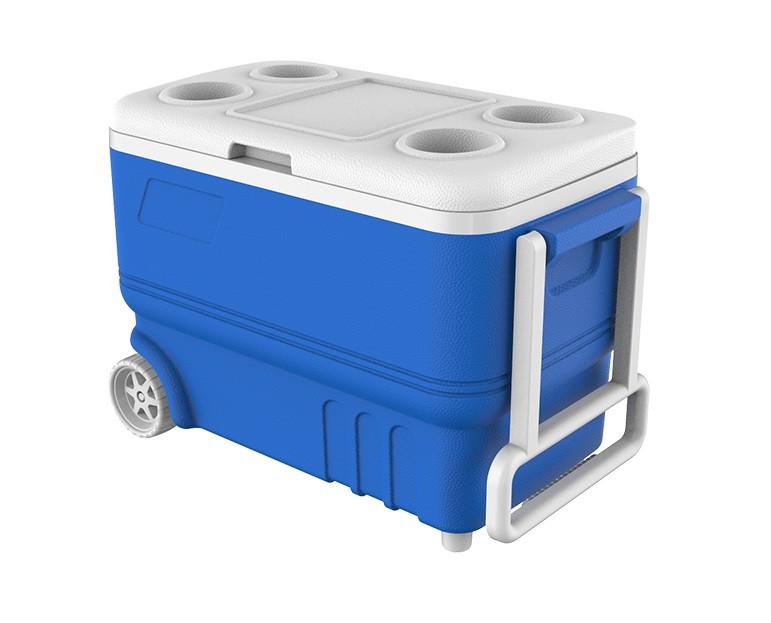 Термобокс 38 л с ручкой на колесах ICE BOX KALE (синий) mz1030