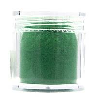 Кашемир для декора ногтей в баночке, цвет — Зеленый