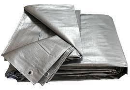Тент 6х8 плотность 160 тарпаулин Польша Plandeka Пландека цвет серебро с люверсами супер мощный