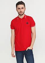 Красная футболка-поло для мужчин EL & KEN однотонная